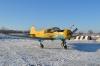 Учебно-тренировочный Як-18Т на аэродроме Белоомут