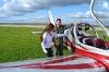 Летчик, самолет, девушка